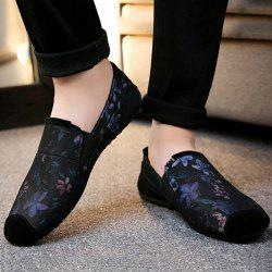 Floral Print Cap Toe Slip On Sneakers - PURPLE
