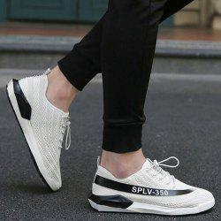 Low-Top Mesh Color Block Sneakers