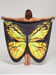 Plus Size Butterfly Beach Wrap Cover Up Dress