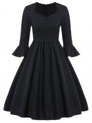 Buttoned 50s Dress