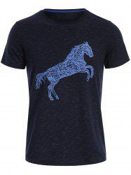 Animal Horse Print Short Sleeve T-shirt
