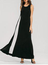 Two Tone Swing Maxi Dress -