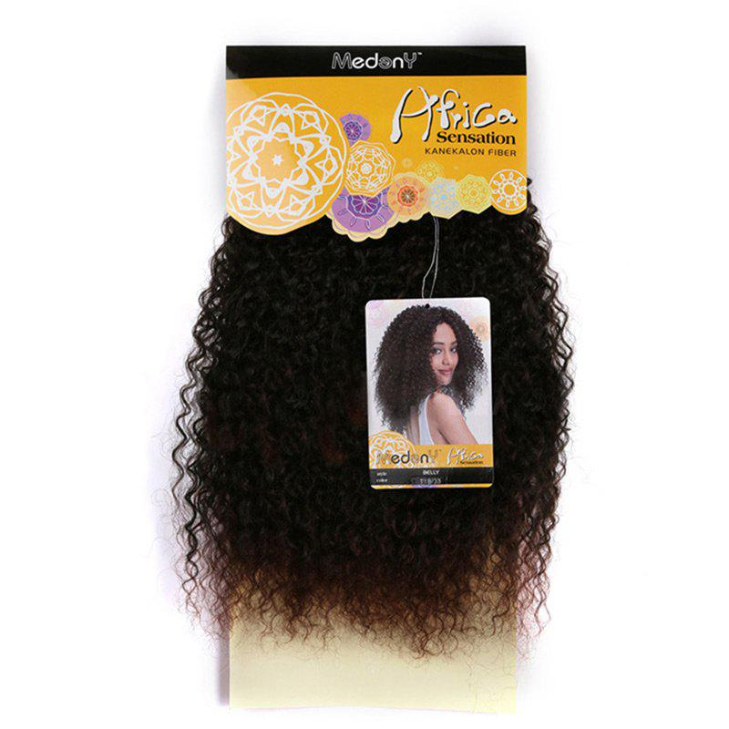 Medium Fluffy Afro Kinky Curly Synthetic Hair Weft
