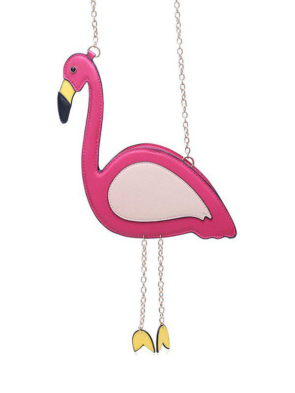 Buy Flamingo Shaped Chain Crossbody Bag