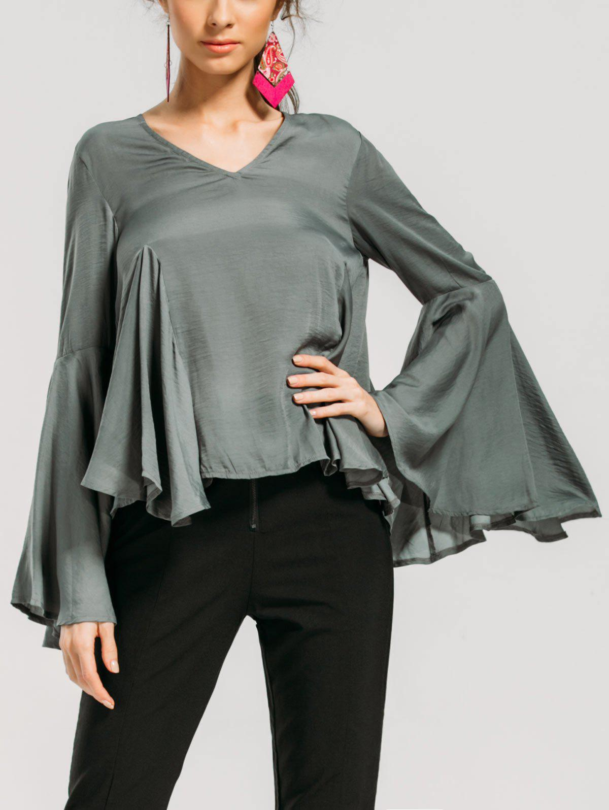 New Baggy Ruffles Flare Sleeve Blouse