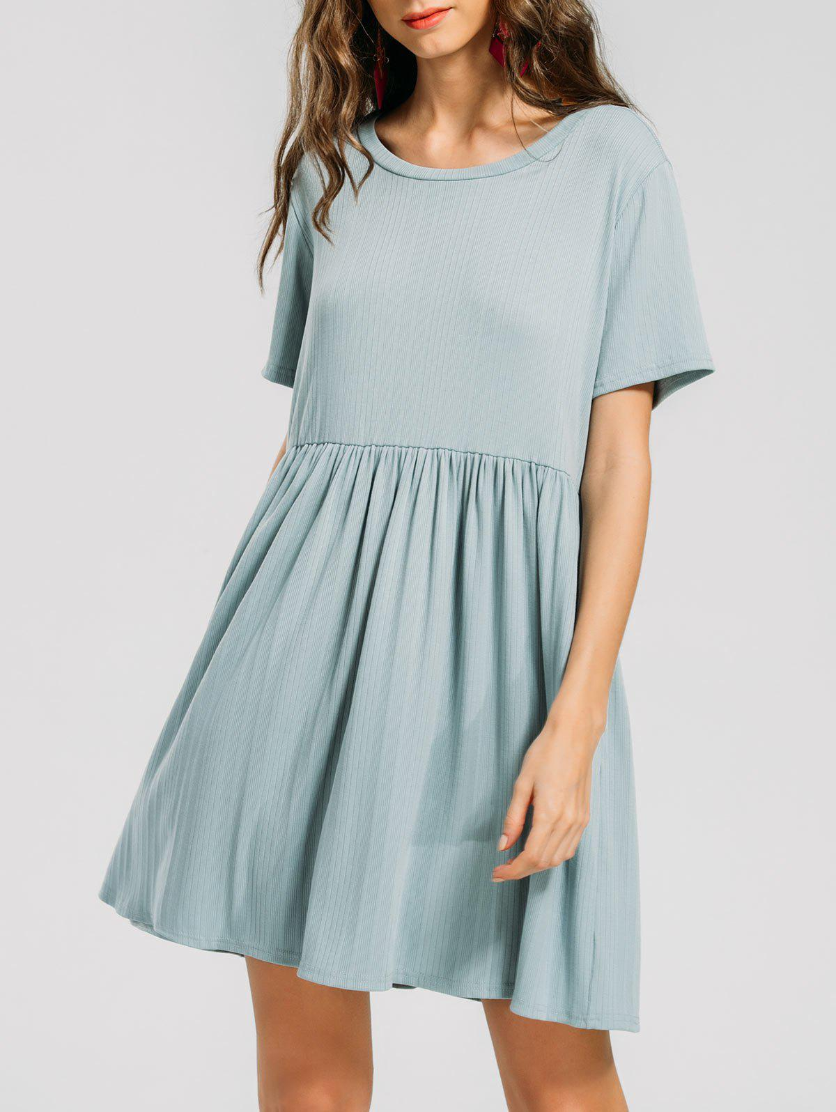 Discount Ruffled Seam Knitted Mini Dress