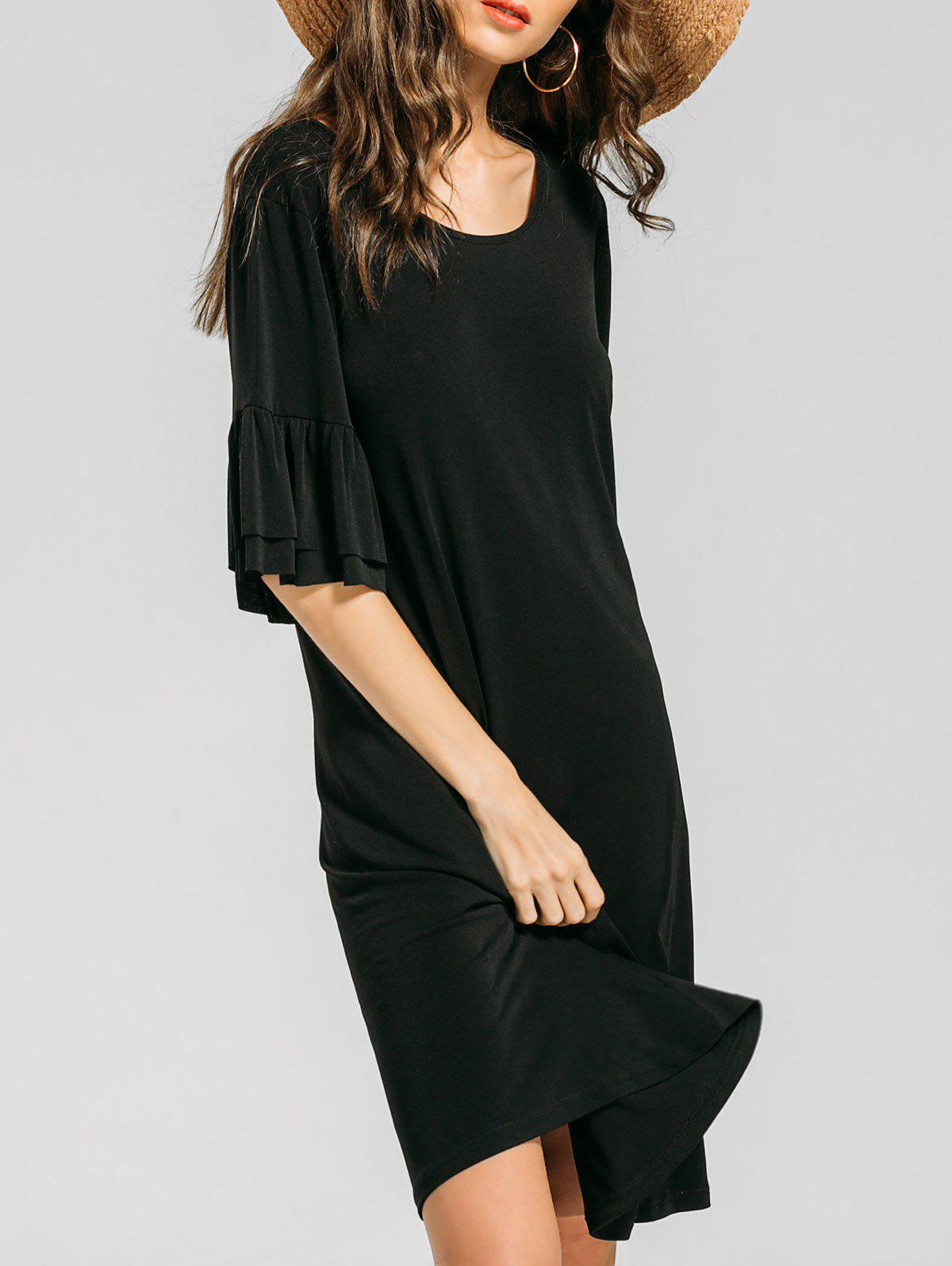 New Ruffles Flare Sleeve Casual Dress