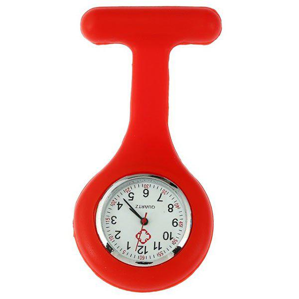 Nurses Silicone Fob WatchJEWELRY<br><br>Color: RED; Gender: For Unisex; Style: Formal; Type: Pocket watch; Index Dial: Analog; Case material: Alloy; Band material: Silicone; Movement: Quartz; Dial Shape: Round; Water-Proof: No; Dial Diameter: 4cm; Band Length(CM): 9cm; Package Contents: 1 x Watch;