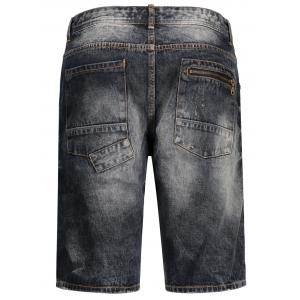Bermuda Denim Ripped Shorts - Noir M