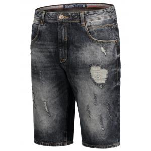 Bermuda Denim Ripped Shorts -