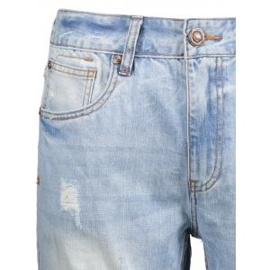 Jeans Strapped Zip Fly Straight - Bleu clair 38