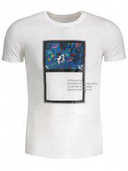Floral Panel Mens Tee