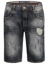 Bermuda Denim Ripped Shorts
