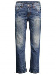 Zip Fly Straight Jeans