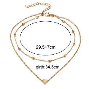 Heart Layered Collarbone Necklace -
