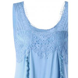 Tassels Lace Insert Tunic Top -