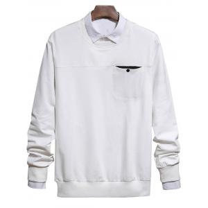 Chest Pocket Crew Neck Sweatshirt