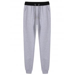 Back Pockets Drawstring Jogger Pants
