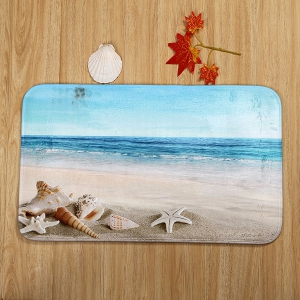 Eco-Friendly Beach Shell 3Pcs Bathroom Mats Set -