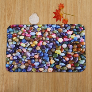 3Pcs/Set Colorful Stone Toilet Lid Cover Floor Mats -