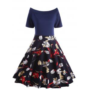 Off The Shoulder Floral Plus Size Dress
