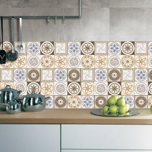 Bohemian Mandala Vinyl Decorative Wall Sticker - BROWN