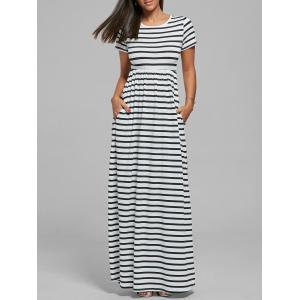 Striped Long Maxi Dress