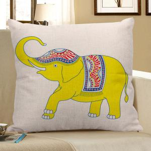 Linen Decorative Elephant Ethnic Pillow Case