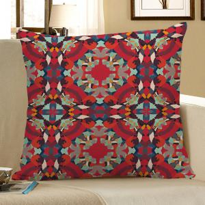 Decorative Bohemian Geometric Linen Pillow Case - Red - 45*45cm