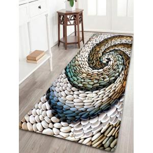 Bathroom Flannel Whirlwind Pebbles Skidproof Rug