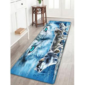 Wolf Printed Flannel Skidproof Area Rug