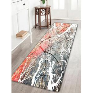 Cracked Wood Print Flannel Skidproof Rug - Wood Color - W16 Inch * L47 Inch