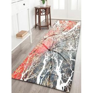 Cracked Wood Print Flannel Skidproof Rug