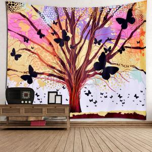 Home Decor Life of Tree Butterfly Wall Hanging Tapestry -