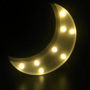 Home Decor LED Moon Table Night Light - White - W55 Inch * L78 Inch