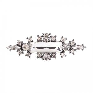 Statement Faux Crystal Geometric Finger Ring - WHITE