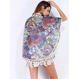 Tribal Print Tassels Cover Up - COLORMIX S