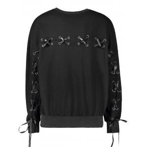 Casual Selt Tie Lace Up Sweatshirt