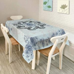 Kitchen Product Bohemian Mandala Print Table Cloth - Light Blue - W60 Inch * L84 Inch