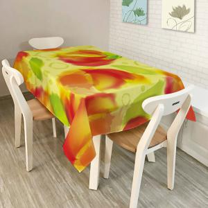 Washable Fabric Table Cover Kitchen Decoration - Colormix - W60 Inch * L84 Inch