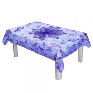 Floral Fabric Dust Prevention Table Cloth - PURPLE W54 INCH * L54 INCH