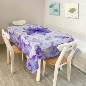 Floral Fabric Dust Prevention Table Cloth - Purple - W60 Inch * L84 Inch