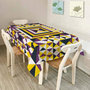 Dining Decor Geometry Print Dustproof Table Cloth