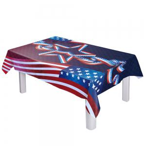 Dustproof Polyester American Flag Kitchen Table Cloth - COLORMIX W54 INCH * L72 INCH