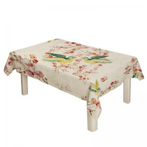 Bird Floral Print Kitchen Dining Table Cloth - COLORFUL W54 INCH * L54 INCH