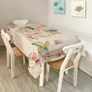 Bird Floral Print Kitchen Dining Table Cloth - Colorful - W60 Inch * L84 Inch