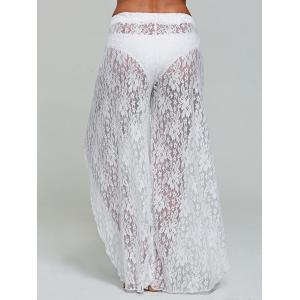 Lace Tulip Swim Cover Up Pants - WHITE S