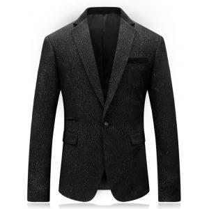 One Button Lapel Glittering Blazer