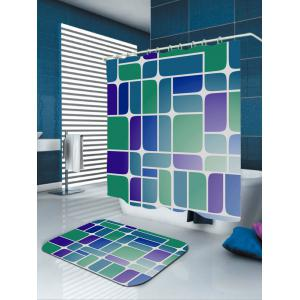 Mildewproof Geometry Print Bathroom Shower Curtain - COLORMIX W59 INCH * L71 INCH