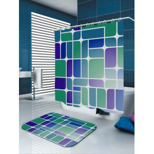 Mildewproof Geometry Print Bathroom Shower Curtain -